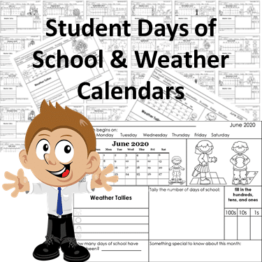 student-weather-recording-pages-and-days-of-school