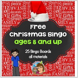 Christmas Bingo Ages 8 and Up in Color