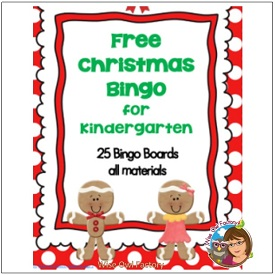 Christmas Bingo for K and Up in Color