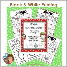 Black and White printing Christmas Jingo