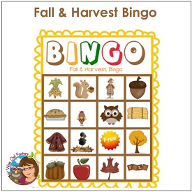 Fall and Harvest Bingo