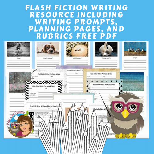 Flash-fiction-writing-prompts-and-bulletin-board-rubrics-free-download-printable-PDF