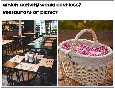 does a restaurant or picnic cost less