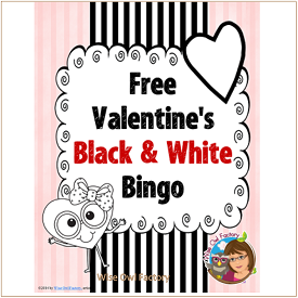 Valentine's Bingo for Black and White Printing