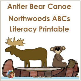 Antler, Bear, Canoe Literacy ABC Printable