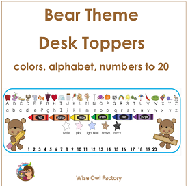 Bear Desk Topper Name Plates