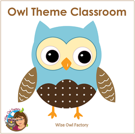 Owl Classroom Zipped Folder