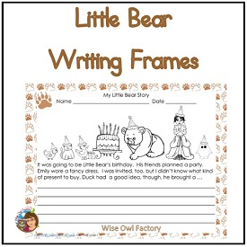 Little Bear Writing Frame and Rubric