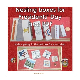 Nesting Boxes for President's Day