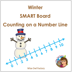 Winter Number Line SMART Board Notebook File