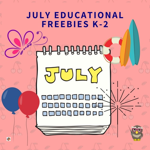 July-educational-printables-K-2-and-elementary-grades-free