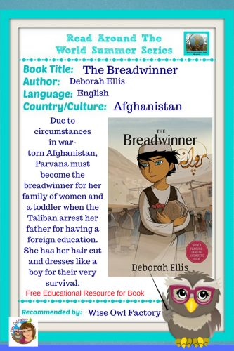 The Breadwinner Read the World Summer 2018 --The Breadwinner is a novel set in Afganistan based on interviews with children. Free PDF