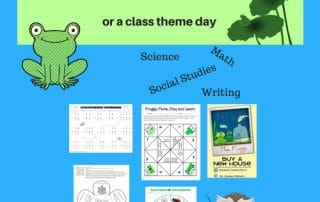 Frog Theme Day for the Sub Tub or Class -- have a full day ready for a substitute for that emergency when plans are too difficult to make.