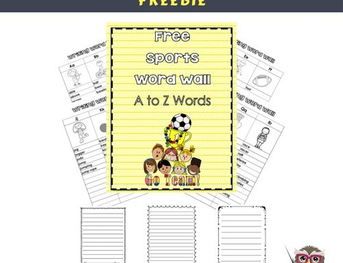 Sports Individual Word Wall for Students Free