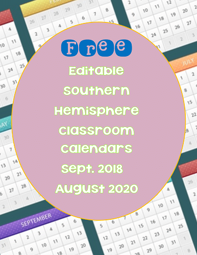 free-editable-calendar-for-S-Hemisphere-2016