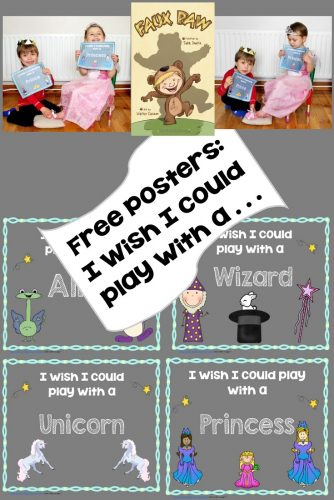 This post has an instant download for a set of posters to use for dress-up play and a photo opportunity activity.