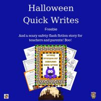 Halloween-quick-writes-free-printable-and-story-for-teachers-and-parents