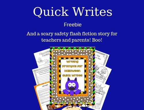 Halloween Quick Writes and Safety Story Freebie