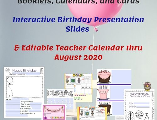 Editable Birthday Display, Slides, and Classroom Calendars