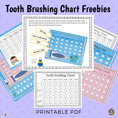 photograph regarding Printable Tooth Brushing Charts named Enamel Brushing Charts No cost Obtain Intelligent Owl Manufacturing unit
