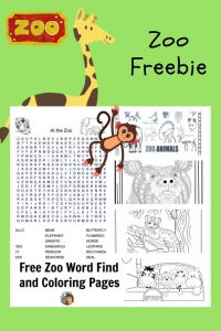 Zoo word search and coloring pages freebie for parents and teachers is an instant download on this post, Minnesota Zoo