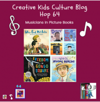 Musicians in Picture Books and Culture Blog Hop -- multicultural activities, crafts, recipes, and musings for our creative kids, and fun pizza fact