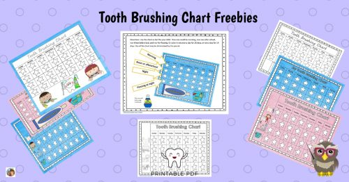 photograph relating to Printable Tooth Brushing Charts called Enamel Brushing Charts Totally free Obtain Clever Owl Manufacturing unit