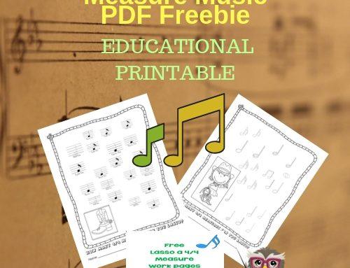 Lasso a 4/4 Measure Music PDF Freebie