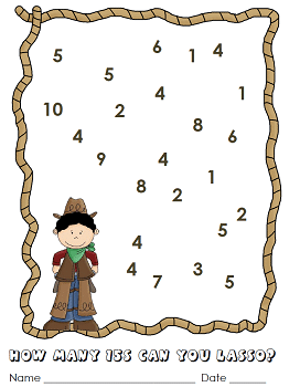 Western-theme-3-addend-math-to-15-freebie
