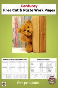 Corduroy-cut-and-paste-work-pages-freebie