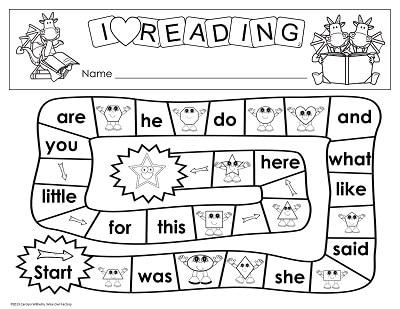 game-board-level-2-kindergarten-words