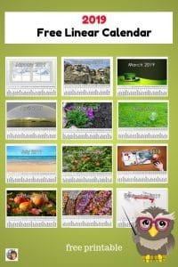 linear-calendar-for-2019-Montessori-free-educational-printable
