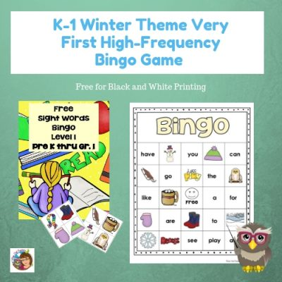 first-high-frequency-sight-words-bingo-game-winter-theme-free-for-black-and-white-printing