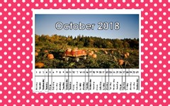 Linear Calendar Free Printable through 2018