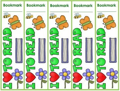 Bookmarks and Book Charts Through the Year