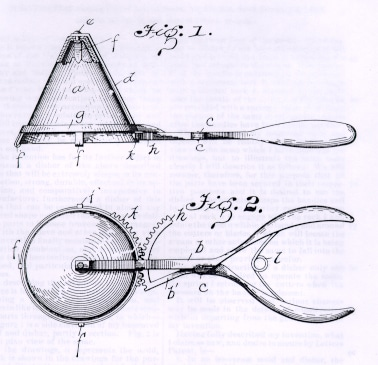 Patent for the ice cream scoop by Alfred L. Cralle