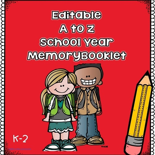 Editable School Year Writing and Drawing Memory Book