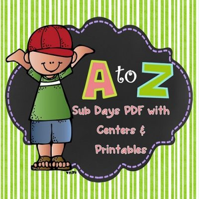 Alphabetical Order Substitute or Class Theme Day All Subjects