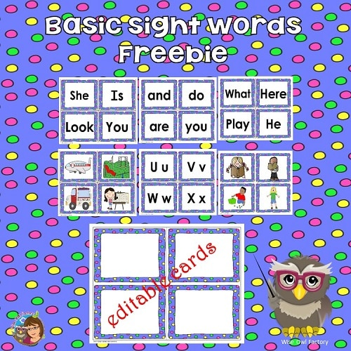 Kindergarten-free-sight-words