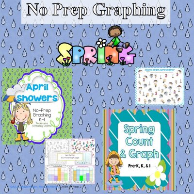 graphing-and-spring-months-theme-with-recording-pages