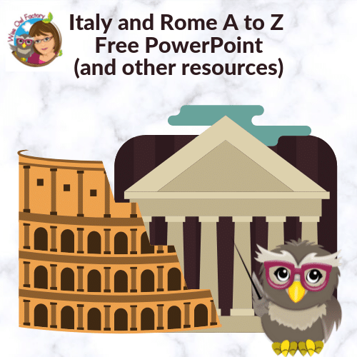 Italy and Rome A to Z Presentations Free Resources