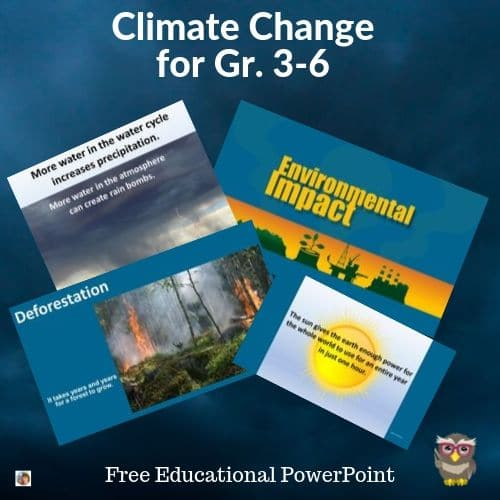 Climate Change for Grades 3-6 Free PowerPoint and PDF