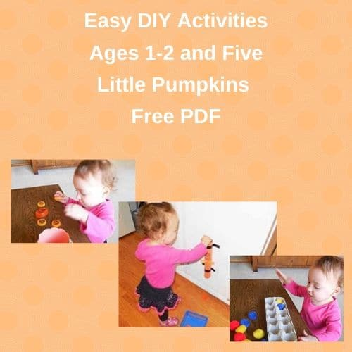 Easy DIY Activities Ages 1-2 and Five Little Pumpkins