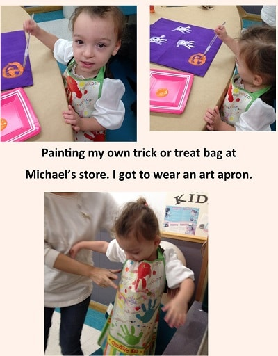 painting-a-trick-or-treat-bag-at-Michaels-Store