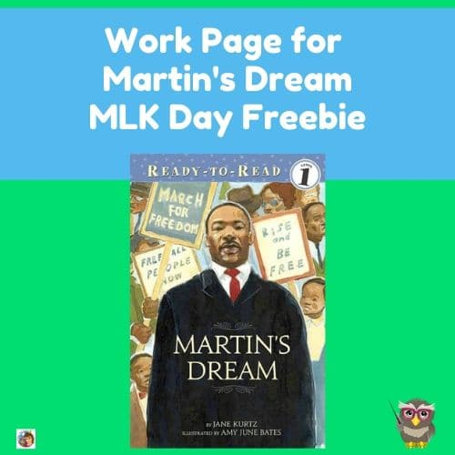 MLK-Day-easy-work-page-and-answer-key