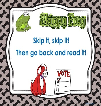 Skippy Frog Word-solving Strategy Skip it and Go Back to Try Again