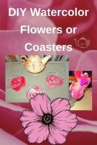 DIY-watercolor-flowers-or-coasters-craft-by-Miss-Owl