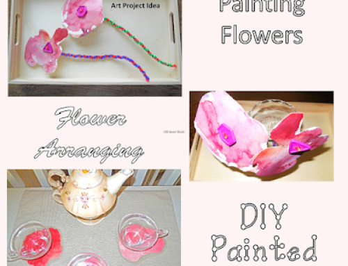 Painting Flowers to Make Coasters Craft Idea