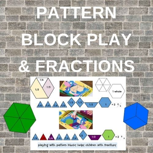 Pattern Block Play Helps Children Learn Fractions