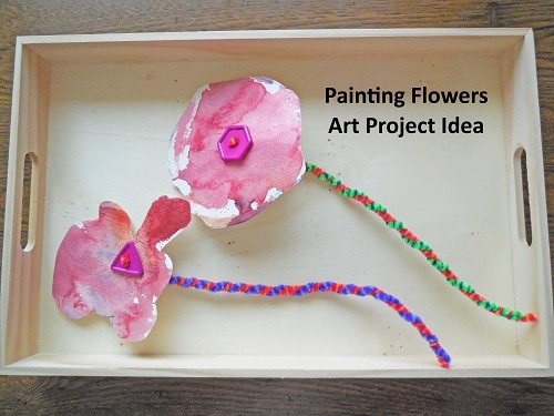 tracing-coasters-to-make-flowers-in-vase-project
